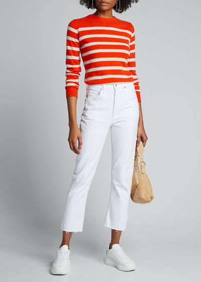 Riley High-Rise Straight Cropped Jeans