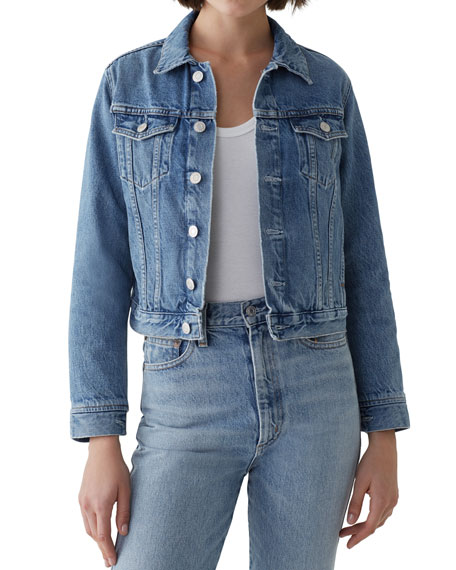 AGOLDE Vivian Cropped Denim Jacket