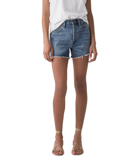 AGOLDE Micah Boyfriend Denim Shorts