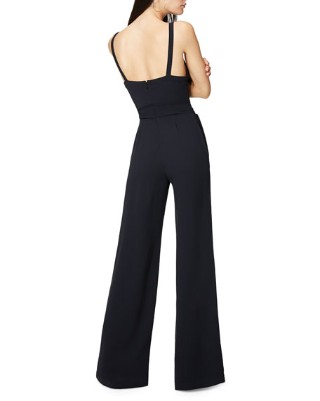 Whitley Lace-Up Sleeveless Wide-Leg Jumpsuit