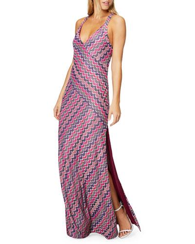 Hadar Printed V-Neck Sleeveless Maxi Dress
