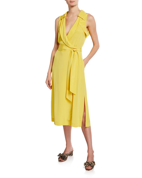 Diane von Furstenberg Augusta Sleeveless Silk Wrap Dress