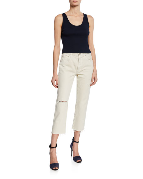 Loverboy High-Rise Straight Cropped Jeans