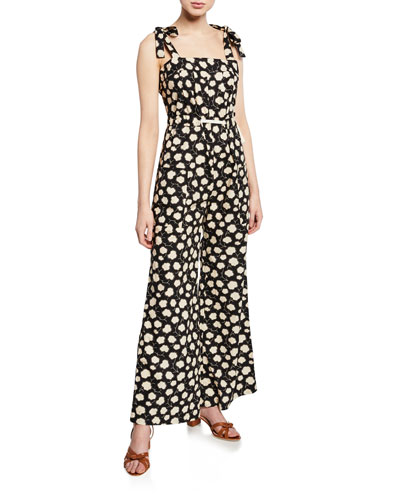 Jessie Printed Wide-Leg Jumpsuit
