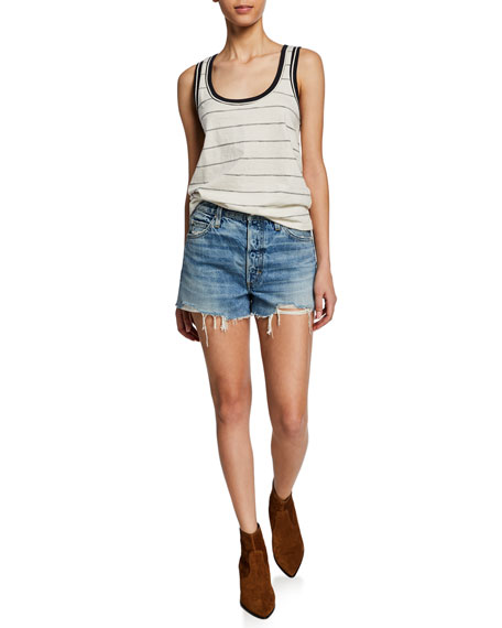 Loverboy High-Rise Cutoff Shorts