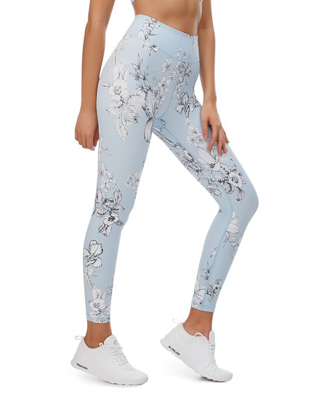 All Fenix Lilac Field Printed Performance Leggings