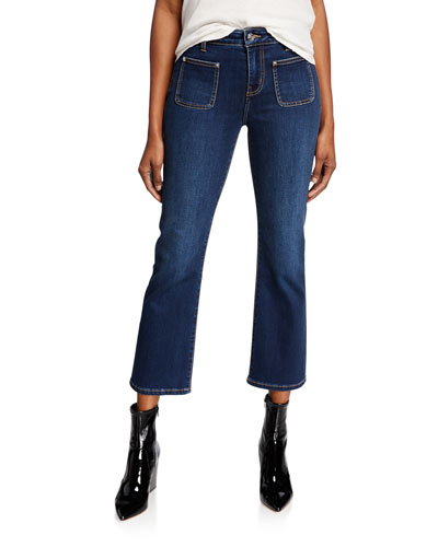 The Cropped Boot Patch-Pocket Jeans