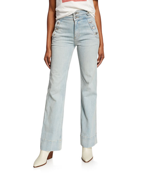 Current/Elliott The Maritime High-Rise Flared Jeans