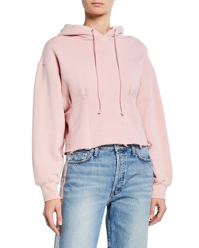 The Pintuck Cropped Hoodie