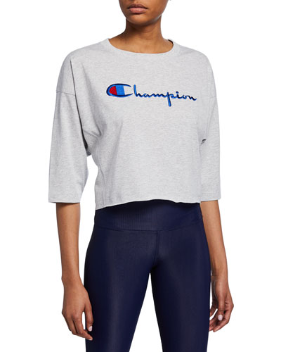 Cropped 3/4-Sleeve T-Shirt