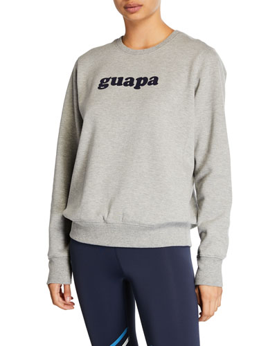 Guapa Fleece Pullover Sweatshirt