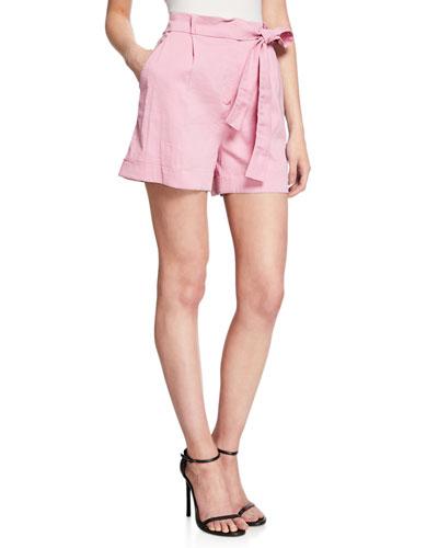 Irma Belted High-Waist Shorts