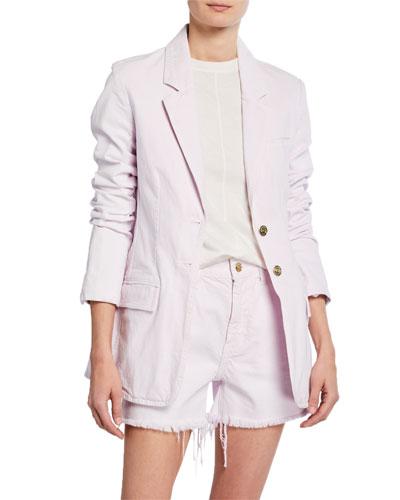 The Highball Two-Button Cotton Blazer