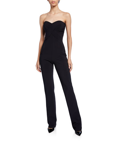 65d5a1d358506 Promotion Sweetheart Strapless Straight-Leg Jumpsuit Quick Look. La Petite  Robe