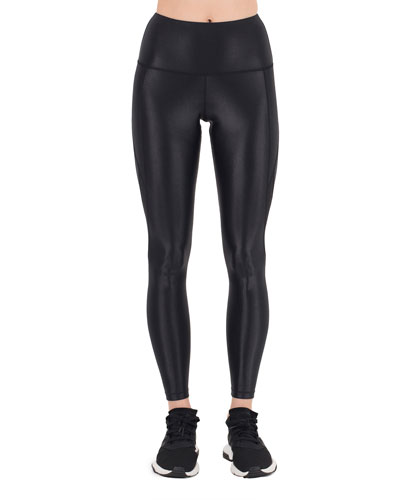 Sydney Paneled Mesh High-Waist Leggings