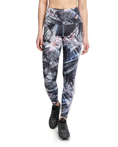 Onzie High-Rise Abstract Printed Active Leggings