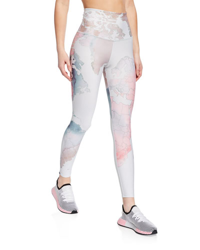 High-Rise Graphic Midi Yoga Leggings