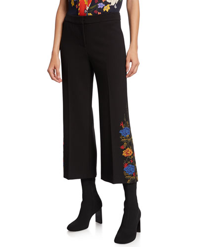 Santina Cropped Crepe Pants