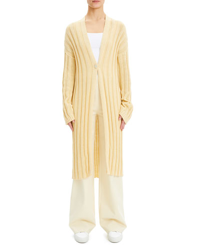 d5ef99d6a9a One-Button Wide-Rib Kimono Cardigan Quick Look. Theory