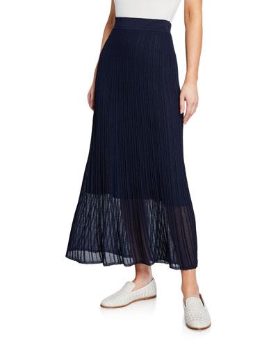 Ribbed Flounce Skirt