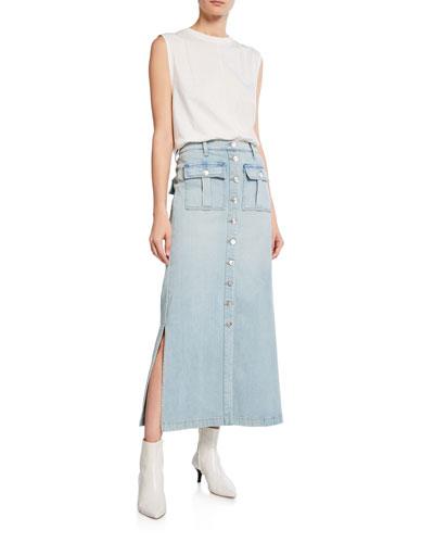 The Surfview Denim Maxi Skirt