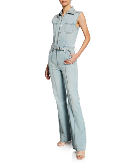 Current/Elliott The Zenith Sleeveless Denim Jumpsuit