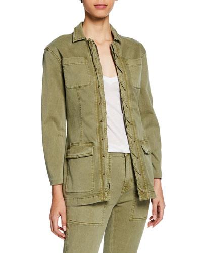 The Laced Zip-Front Denim Jacket