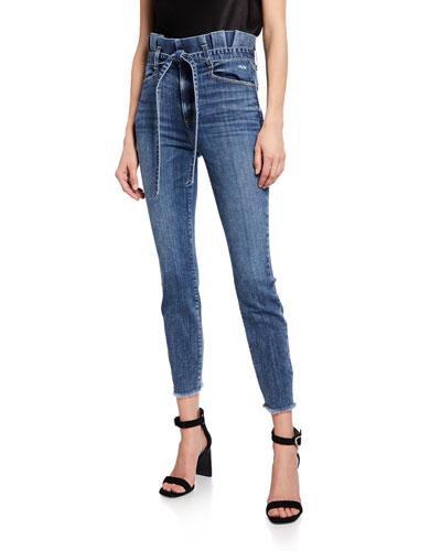 Good Paperbag Waist Skinny Jeans