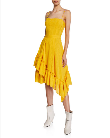 Derek Lam 10 Crosby Square-Neck Cami Dress with
