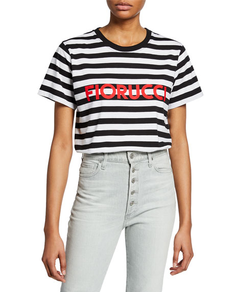Striped Logo Short-Sleeve Cotton Tee
