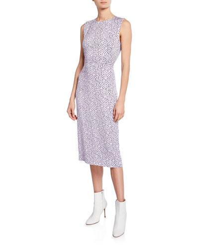 Alina Printed Crewneck Sleeveless Dress