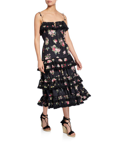 Honour Tiered Ruffle Midi Dress