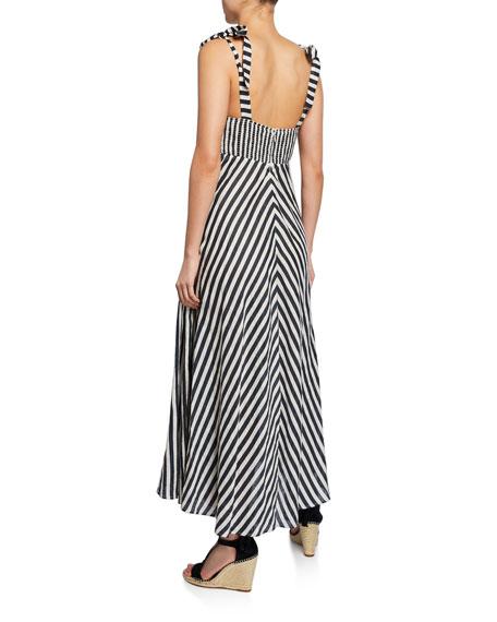 Honour Chevron Long Shoulder-Tie Dress