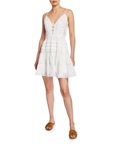 Honour Scalloped Mini Dress