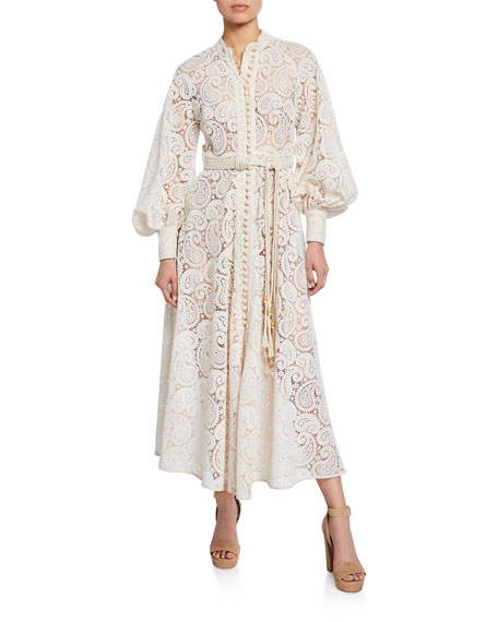 Amari Paisley Lace Maxi Dress