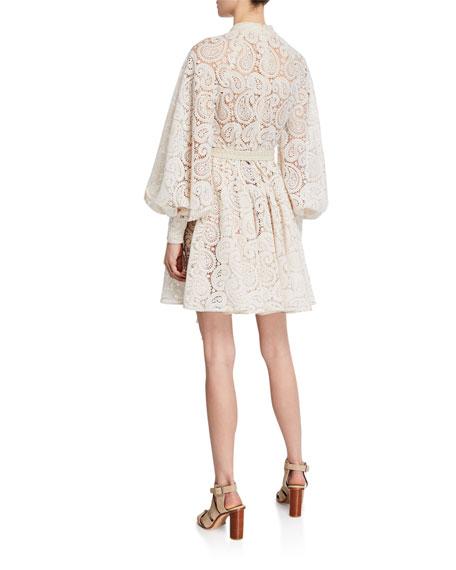 Amari Paisley Lace Mini Dress