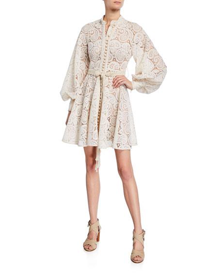 Zimmermann Dresses AMARI PAISLEY LACE MINI DRESS