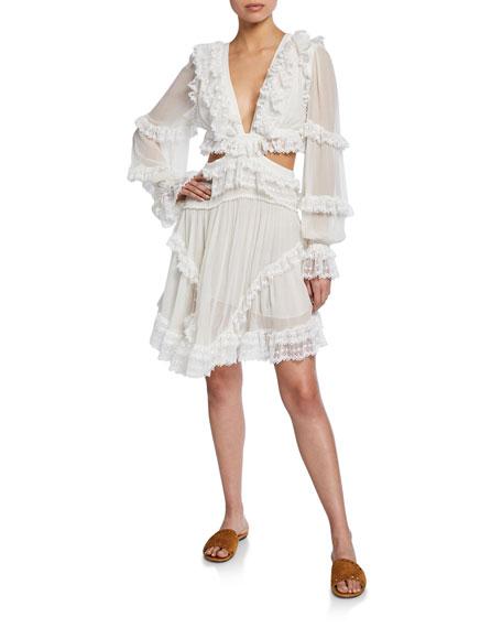 Suraya Cutout Ruffle Mini Dress