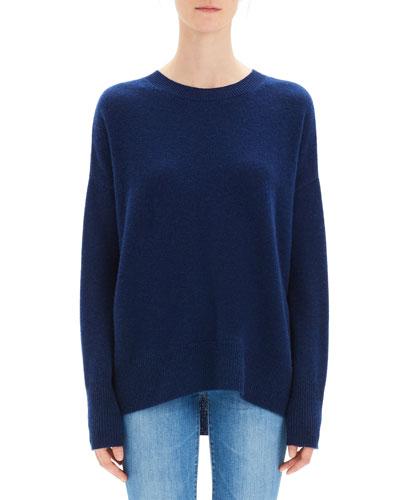 Karenia Cashmere Crewneck Pullover Sweater