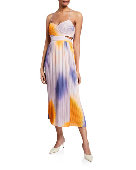 A.L.C. Sienna Pleated Midi Dress
