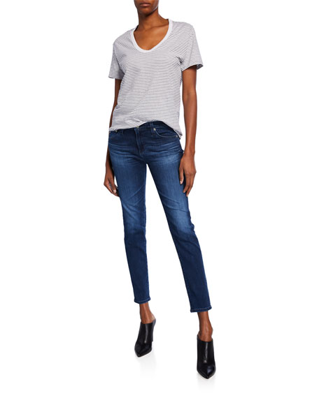 Prima Ankle Mid-Rise Cigarette Jeans