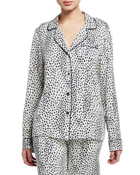 Fleur Du Mal Leopard-Print Long Pajama Top