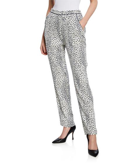 Fleur Du Mal Leopard-Print Jacquard Pajama Pants