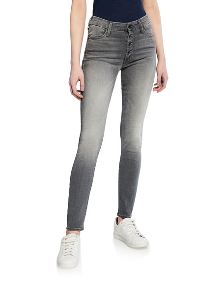 Mother Jeans THE PIXIE BUTTON-FLY SKINNY JEANS