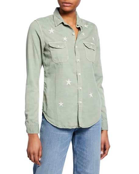 The Trooper Button-Down Shirt with Stars