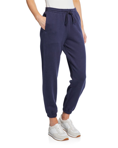 Drawstring Cotton Jogger Pants with Pockets