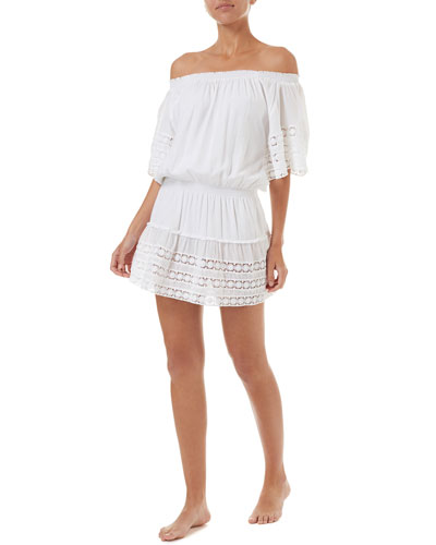 Michelle Off-Shoulder Coverup Dress