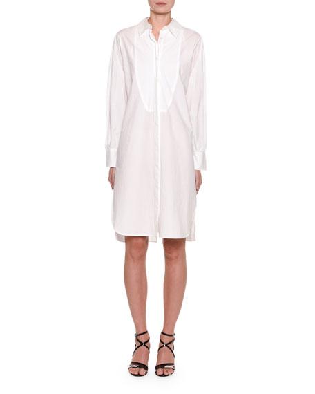Off-Shoulder Convertible Button-Up Shirtdress