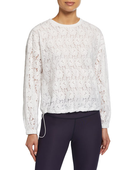 textured lace pullover