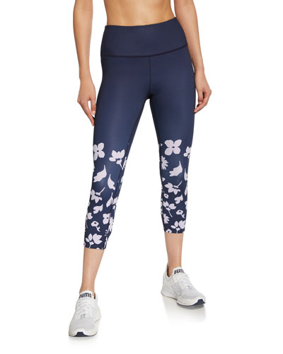 splash border cropped leggings